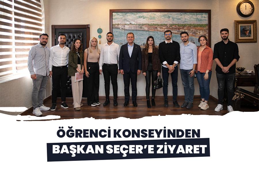 ÖĞRENCİ KONSEYİNDEN BAŞKAN SEÇER'E ZİYARET